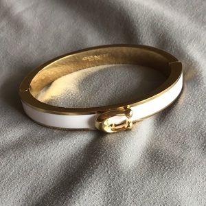 NWOT Coach white bangle bracelet